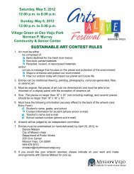 SUSTAINABLE ART CONTEST RULES - City of Mission Viejo
