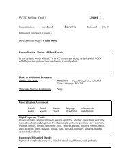 SVUSD Spelling: Grade 6