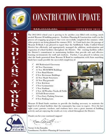Measure B Newsletter - September 2012 Edition - Saddleback ...