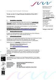 Turnier um den 14. Ingulf-Nossek-Gedächtnis-Pokal 2013 ...