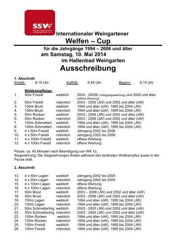 Ausschreibung - Schwimmverband Württemberg e.V.