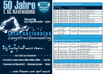 1. SC RAVENSBURG Internationales t - Schwimmverband ...