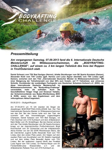 Pressemitteilung - Schwimmverband Württemberg e.V.