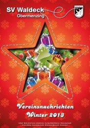 Vereinsnachrichten Ausgabe 2-2013 - SV Waldeck Obermenzing