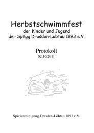 Herbstschwimmfest - SV Weixdorf eV