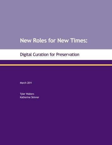 New Roles for New Times: - Association of Research Libraries