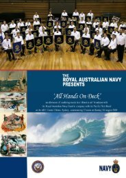 Royal Australian Navy band All Hands on Deck Music Program