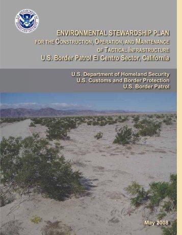 ENVIRONMENTAL STEWARDSHIP PLAN FOR THE ... - CBP.gov