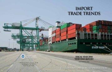IMPORT TRADE TRENDS - CBP.gov