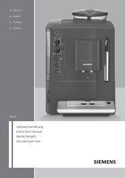 Siemens Info Line - best-in-espresso.de