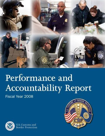 Performance and Accountability Report: Fiscal Year 2008 - CBP.gov