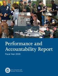 Performance and Accountability Report - CBP.gov