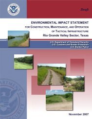 Environmental Impact Statement for Construction, Maintenance, and ...