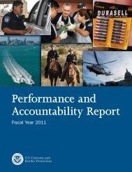 Performance and Accountability Report - CBP.gov