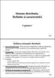 sisteme de operare distribuite