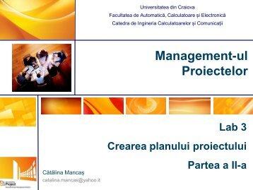 Management-ul Proiectelor - Catedra de Inginerie Software ...