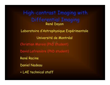 High-contrast Imaging with Differential Imaging