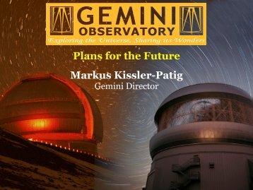 Markus Kissler-Patig - Canada France Hawaii Telescope