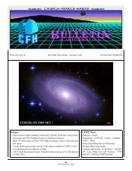 Bulletin 40: The complete issue - Canada France Hawaii Telescope ...