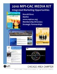 2010 Media Kit - Meeting Professionals International Chicago Area ...