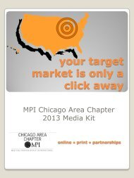 2013 Media Kit - Meeting Professionals International Chicago Area ...