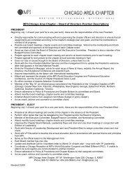 Board of Directors Position Descriptions - Meeting Professionals ...