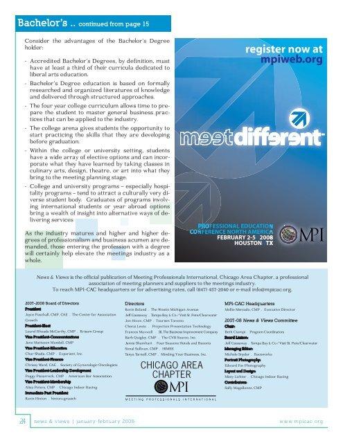 Professional Development - Meeting Professionals International ...
