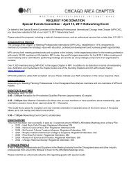April 13, 2011 Networking Event - Meeting Professionals ...
