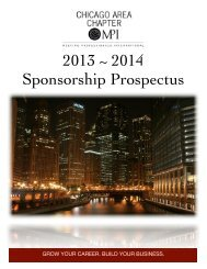 2013-2014 Sponsorship Prospectus - Meeting Professionals ...