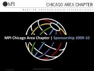 MPI-CAC Sponsorship Benefits - Meeting Professionals ...