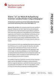 zur Pressemitteilung - Westfälisch-Lippische Sparkassen