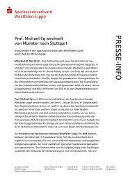 zur Pressemitteilung - Sparkassenverband Westfalen-Lippe