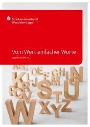 Vom Wert einfacher Worte - Sparkassenverband Westfalen-Lippe