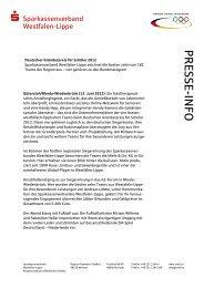 PRESSE-INFO - Sparkassenverband Westfalen-Lippe