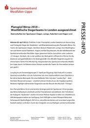 Planspiel Börse 2010 - Westfälisch-Lippische Sparkassen
