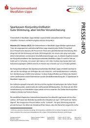 PRESSE-INFO - Westfälisch-Lippische Sparkassen
