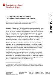 P R ESSE-IN FO - Westfälisch-Lippische Sparkassen
