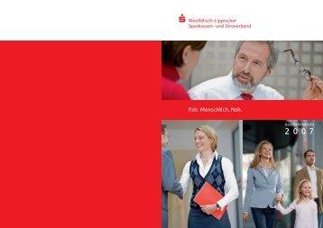 Geschäftsbericht 2007 - Sparkassenverband Westfalen-Lippe
