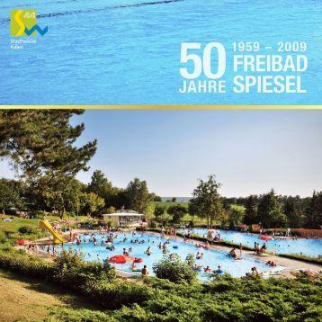 Broschüre 50 Jahre Freibad Spiesel - Stadtwerke Aalen
