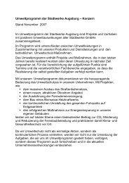 Umweltprogramm der Stadtwerke Augsburg – Konzern Stand ...