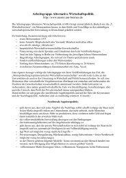 Arbeitsgruppe Alternative Wirtschaftspolitik - Sw-cremer.de