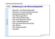 Einführung in die Wirtschaftspolitik Bereiche der ... - Sw-cremer.de