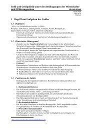 1 Begriff und Aufgaben des Geldes - Sw-cremer.de