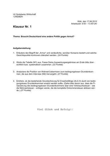 Klausur Nr. 1 - Sw-cremer.de