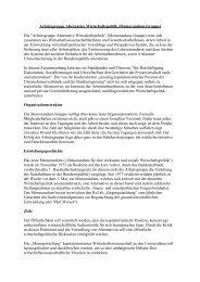 Arbeitsgruppe Alternative Wirtschaftspolitik ... - Sw-cremer.de