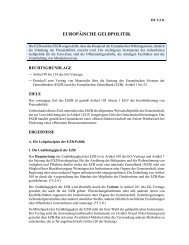 EUROPÄISCHE GELDPOLITIK - Sw-cremer.de