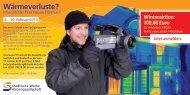 Flyer Thermografie-Aktion - Städtische Werke AG