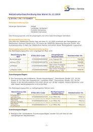 Netzstrukturbeschreibung Gas Stand 31.12.2010 - Städtische Werke ...
