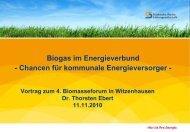 Biogas aus der Region - Städtische Werke AG