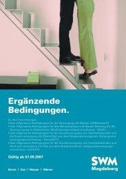 Ergänzende Bedingungen. - Städtische Werke Magdeburg